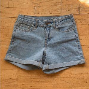 Noisy May // High Waisted Denim Shorts